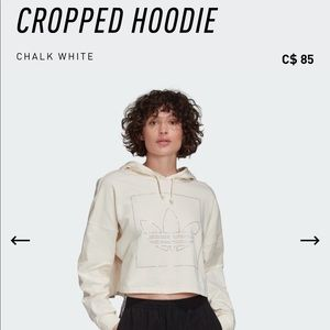 BNWT Adidas Cropped Hoodie